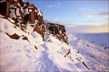 Castle Naze in winter